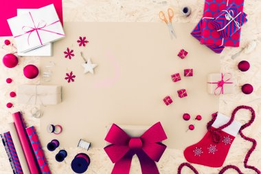 Pink christmas accessories