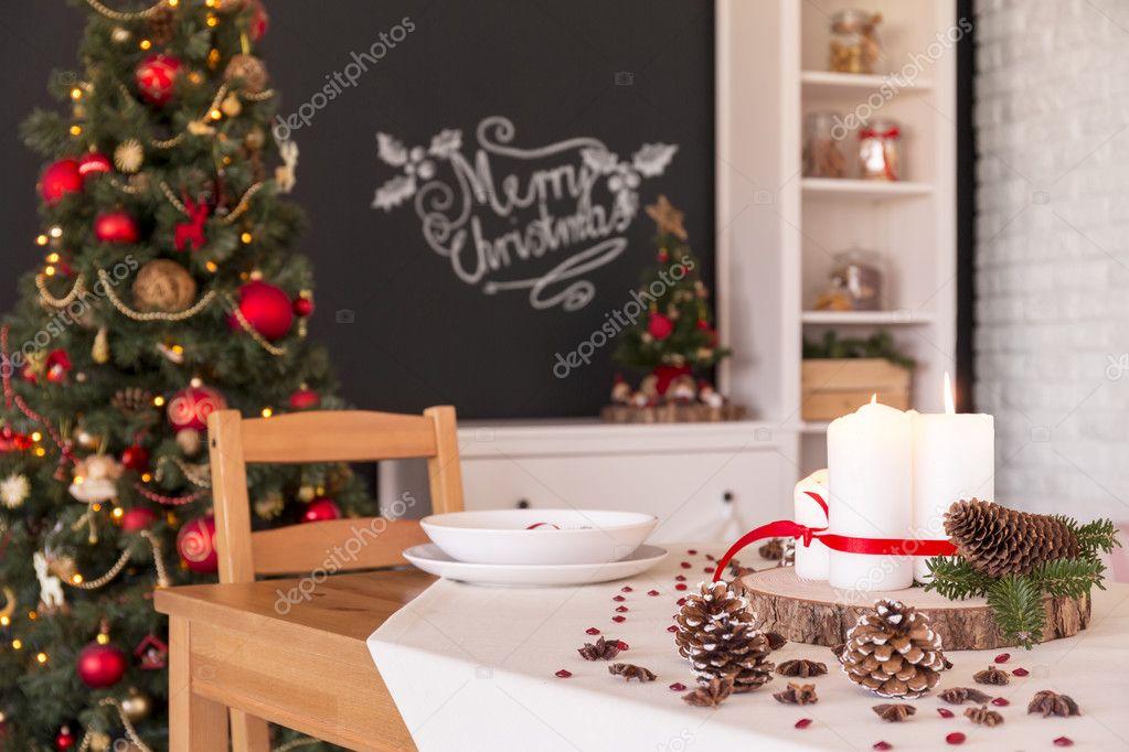 Kerst Tafel Decoratie : Kerst tafeldecoratie u2014 stockfoto © photographee.eu #127438162