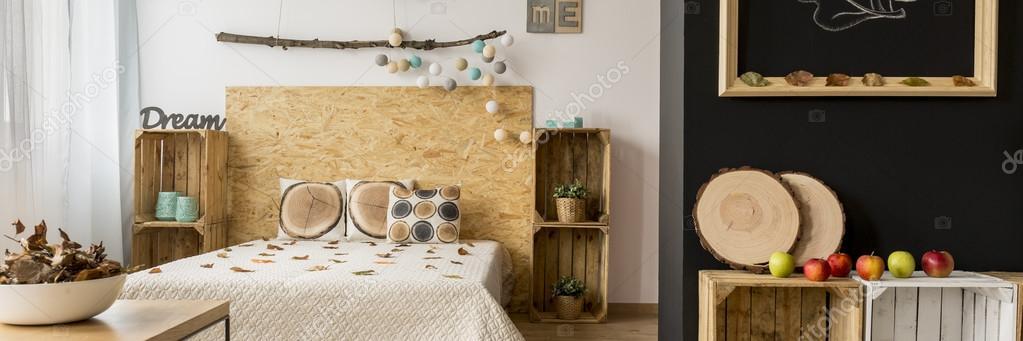 Wood in bedroom
