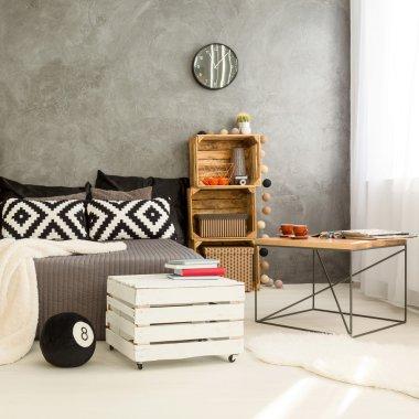 Interior with DIY furniture