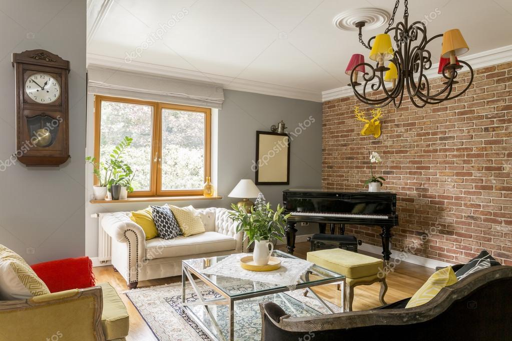 woonkamer vol met interieur architectuur stijlen stockfoto