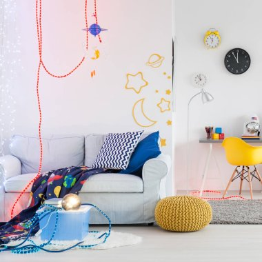Space themed room for children