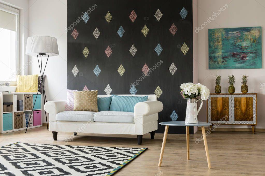 Moderne woonkamer in pastel kleuren — Stockfoto © photographee.eu ...