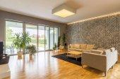 Velký a prostorný obývací pokoj
