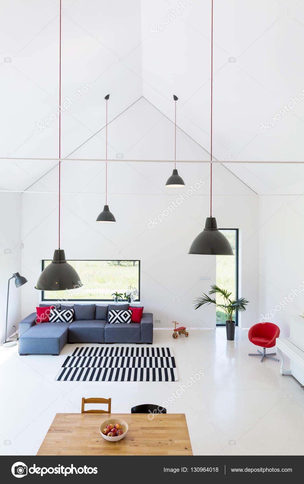 Modernes Wohnzimmer Mit Hoher Decke U2014 Stockfoto