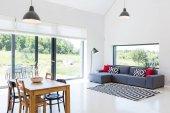 Scandynavian styl obývací pokoj