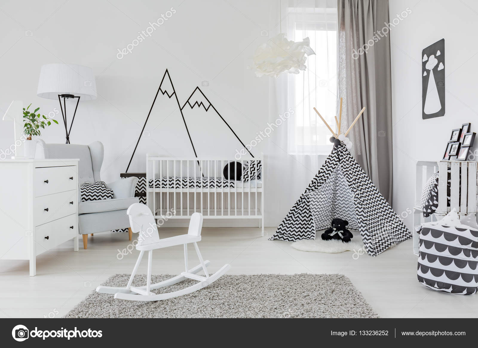 ocuk odas beyaz mobilya ile stok foto 133236252. Black Bedroom Furniture Sets. Home Design Ideas