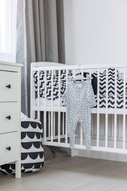Light baby boy room