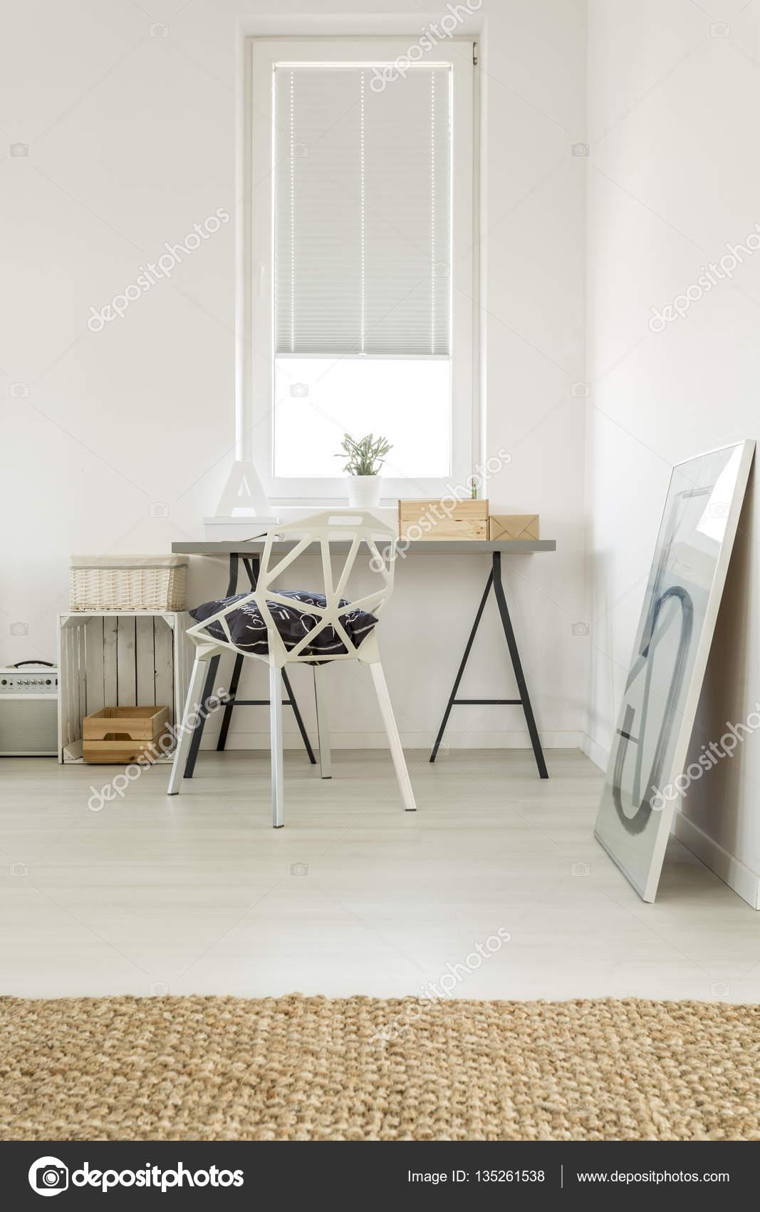 Spacious living room with workplace — Stock Photo © photographee.eu ...