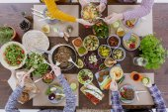 Dietní jídlo s přáteli
