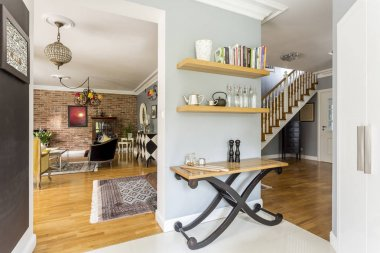 Cozy interior with rustic furnitures