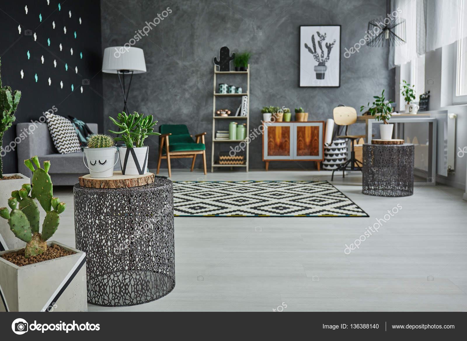 Mieszkanie Z Dekoracyjne Metalowe Akcesoria Zdjęcie