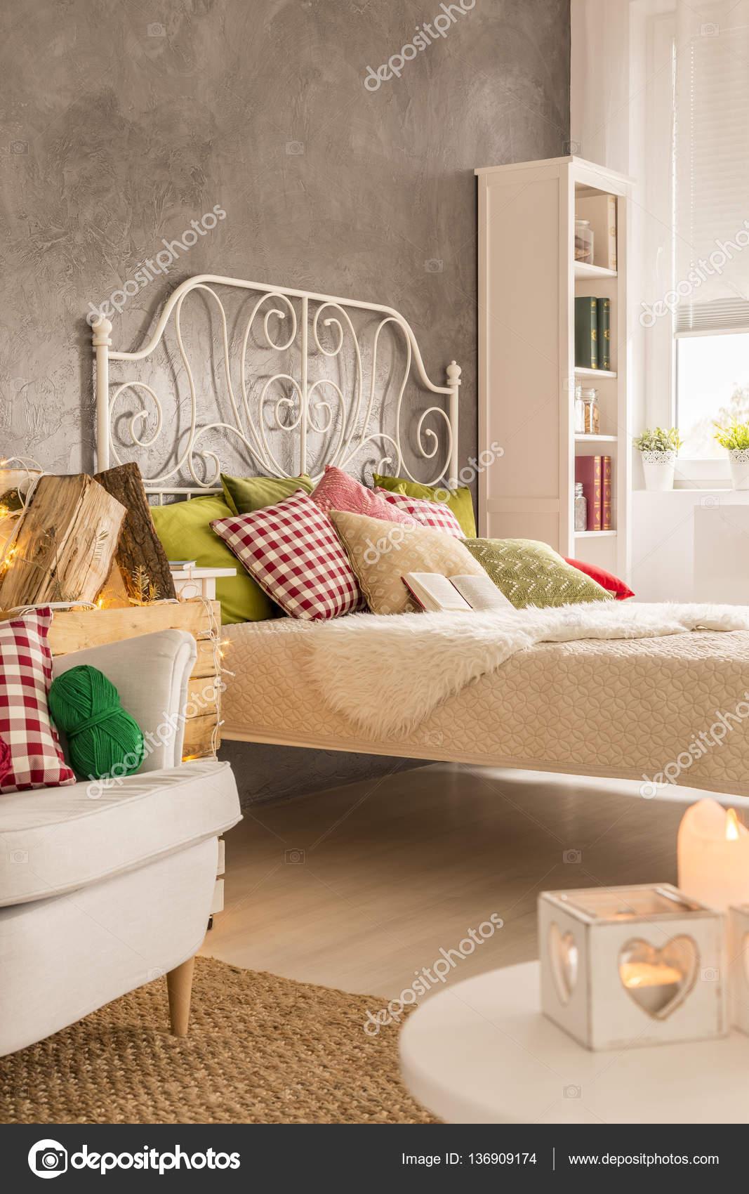 Schlafzimmer Mit Weißen Möbeln U2014 Stockfoto