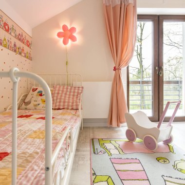 Room for girl with colourful details