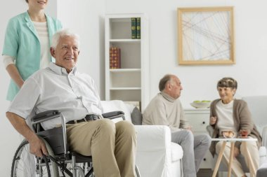 Retirement home with elder man
