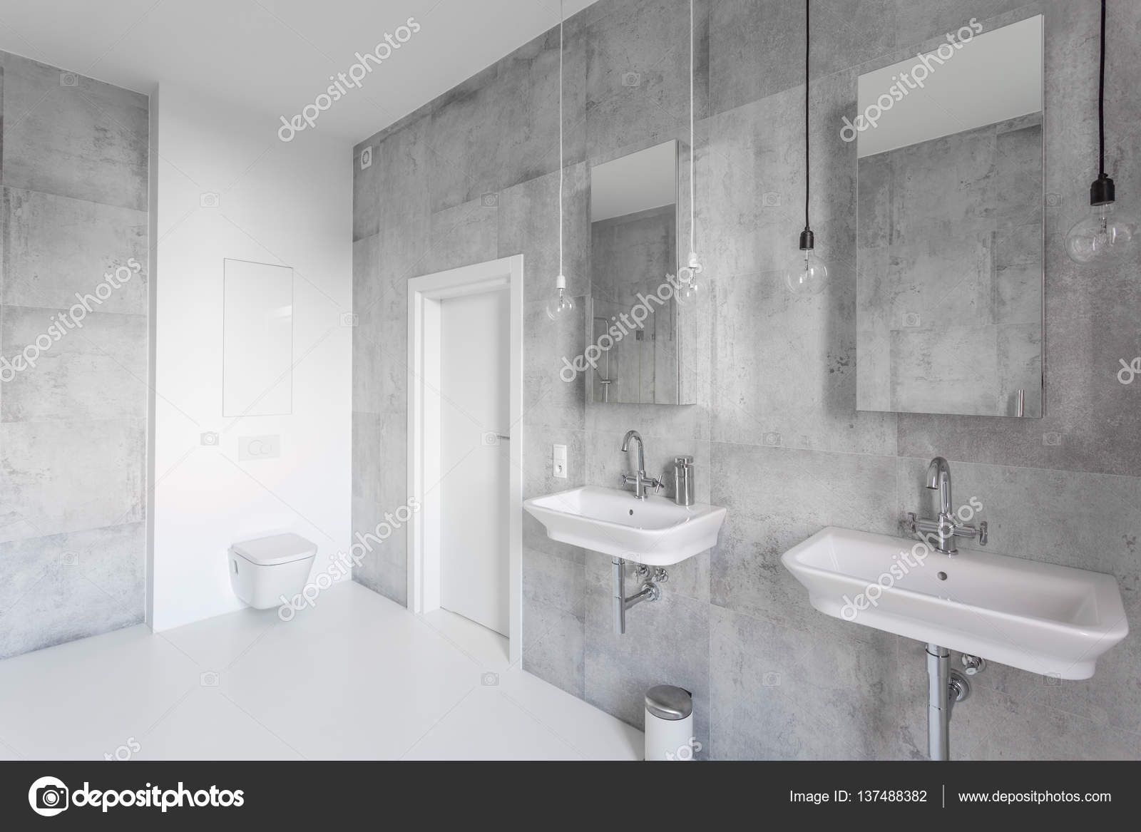 spacious all white bathroom. Spacious White Bathroom With Sinks \u2014 Stock Photo All Depositphotos