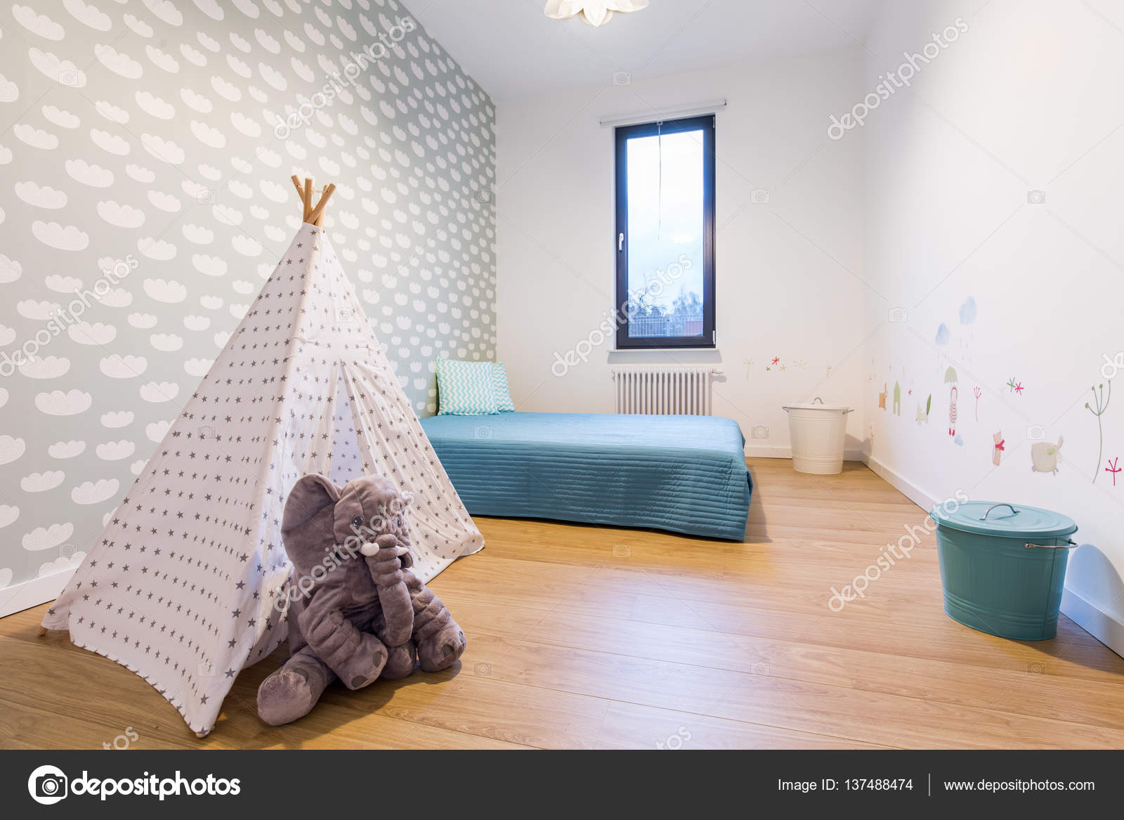 Tipi Tent Kinderkamer : Kinderkamer met tipi tent u stockfoto photographee eu