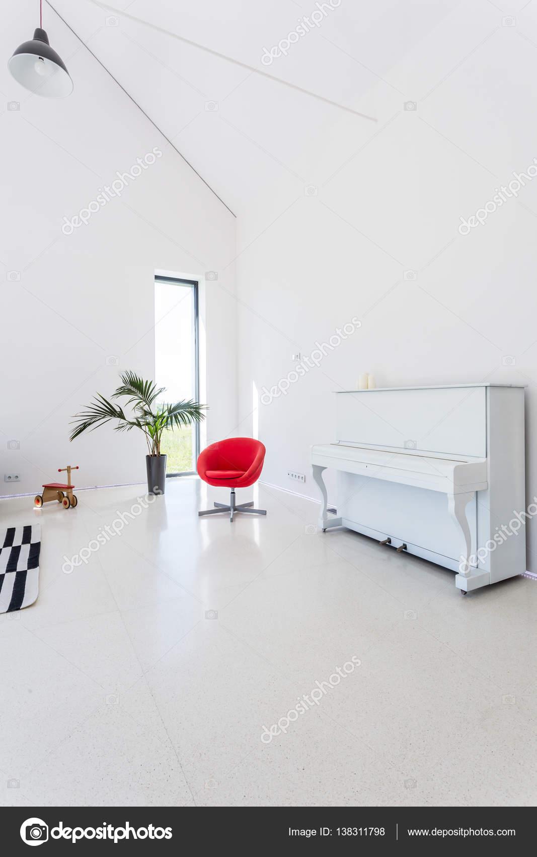 White living room with piano — Stock Photo © photographee.eu #138311798