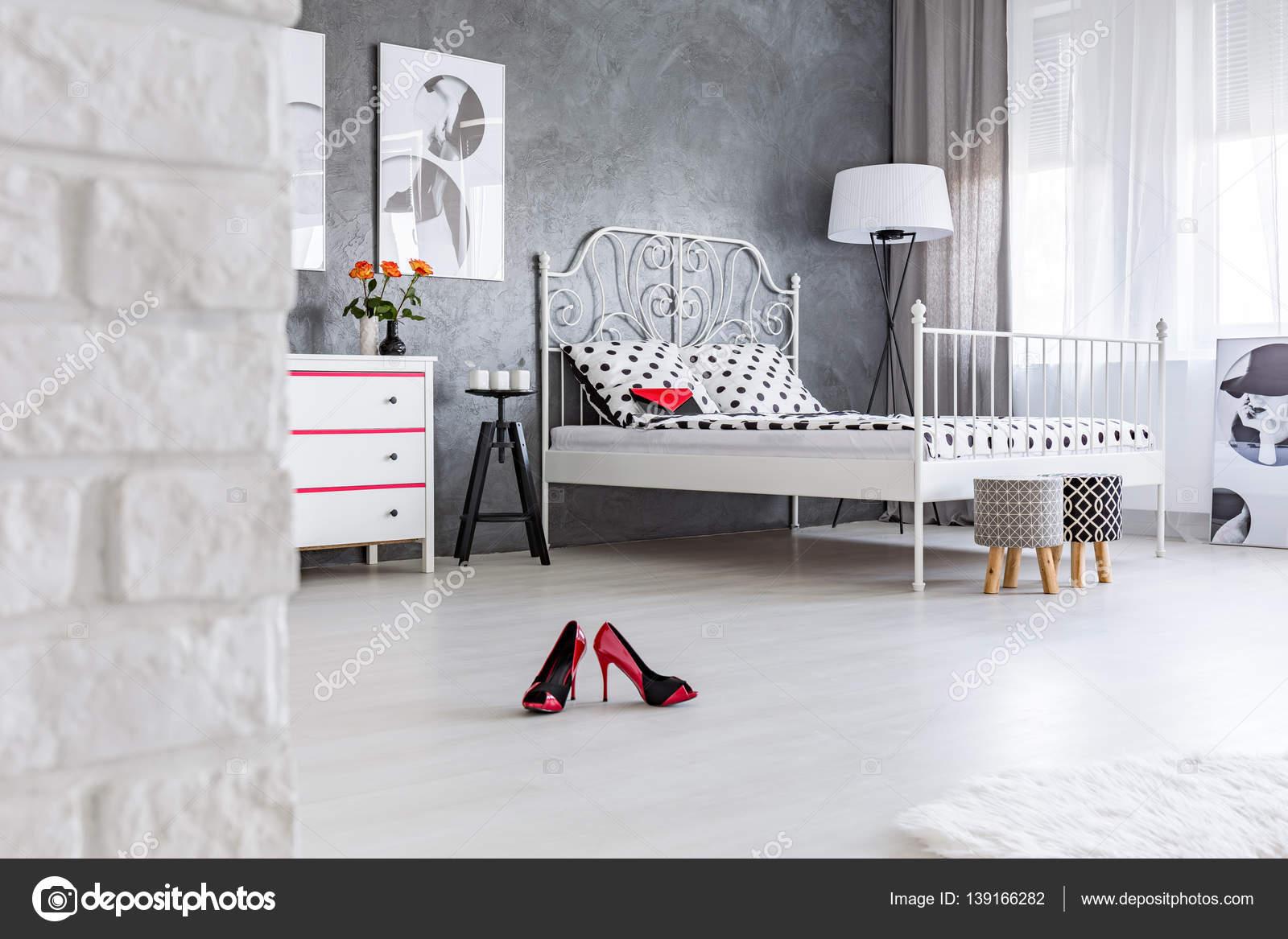 High Heels Left In The Bedroom U2014 Stock Photo