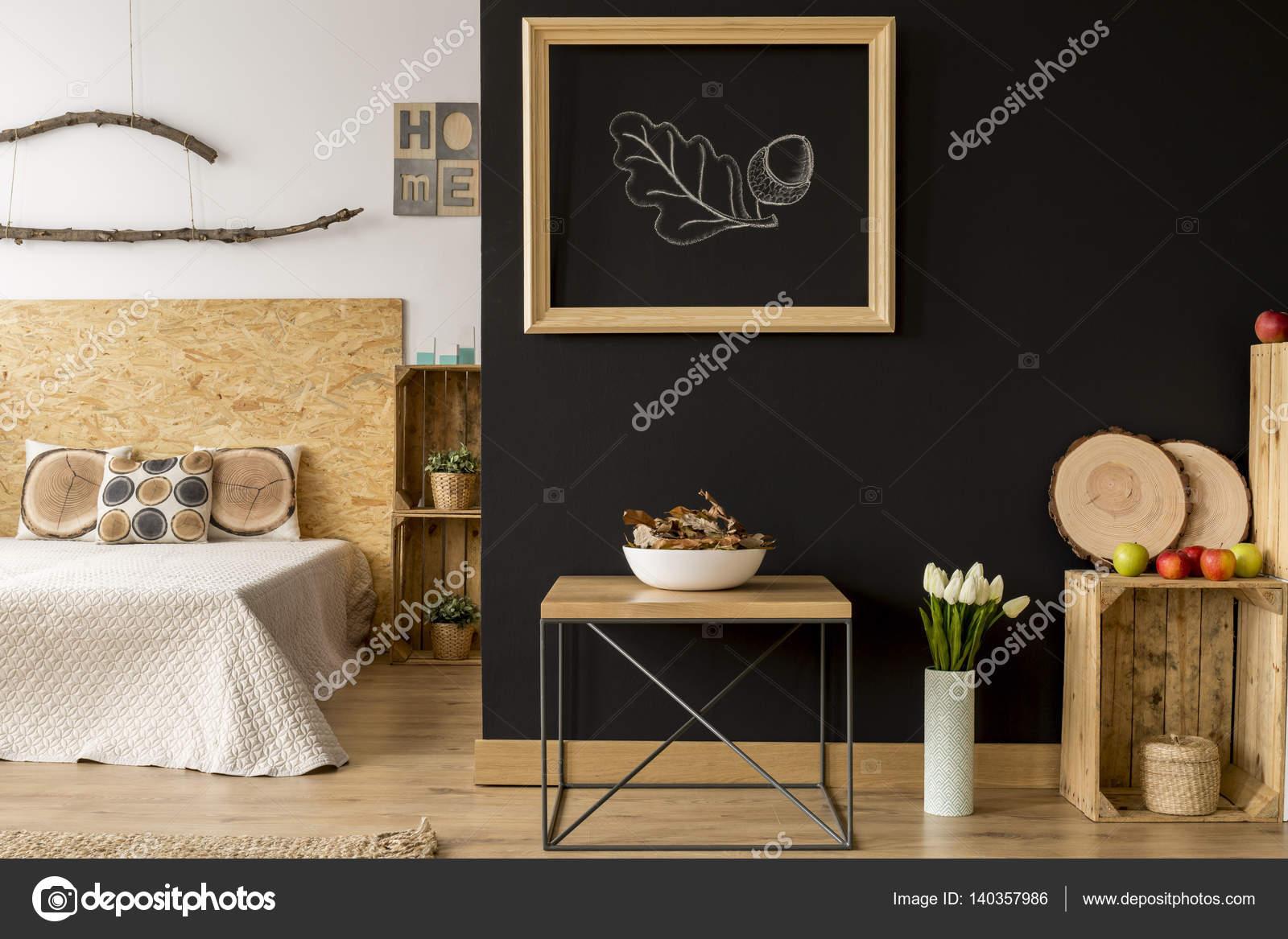 Modern appartement met houten decoratie u stockfoto photographee