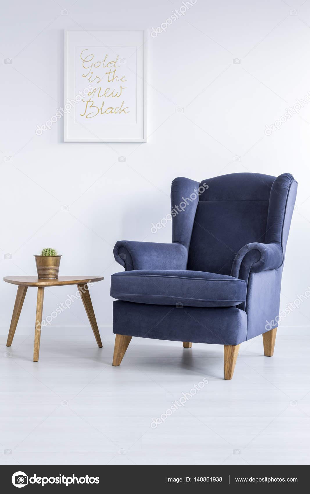 Blue Armchair And Side Table Stock Photo C Photographee Eu 140861938
