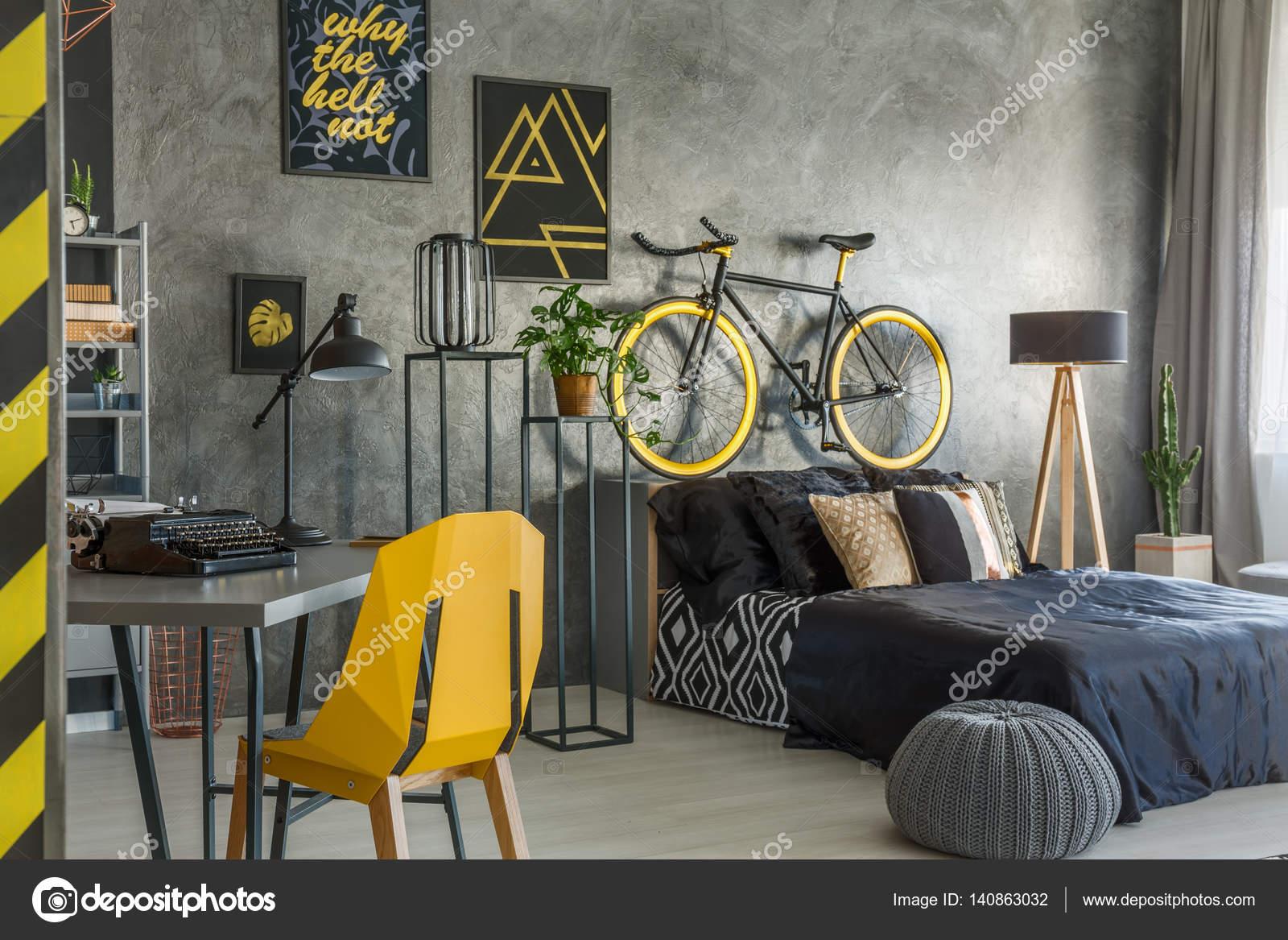 Hipster In Grau Mit Büro Und Schlafzimmer Kombiniert U2014 Foto Von  Photographee.eu