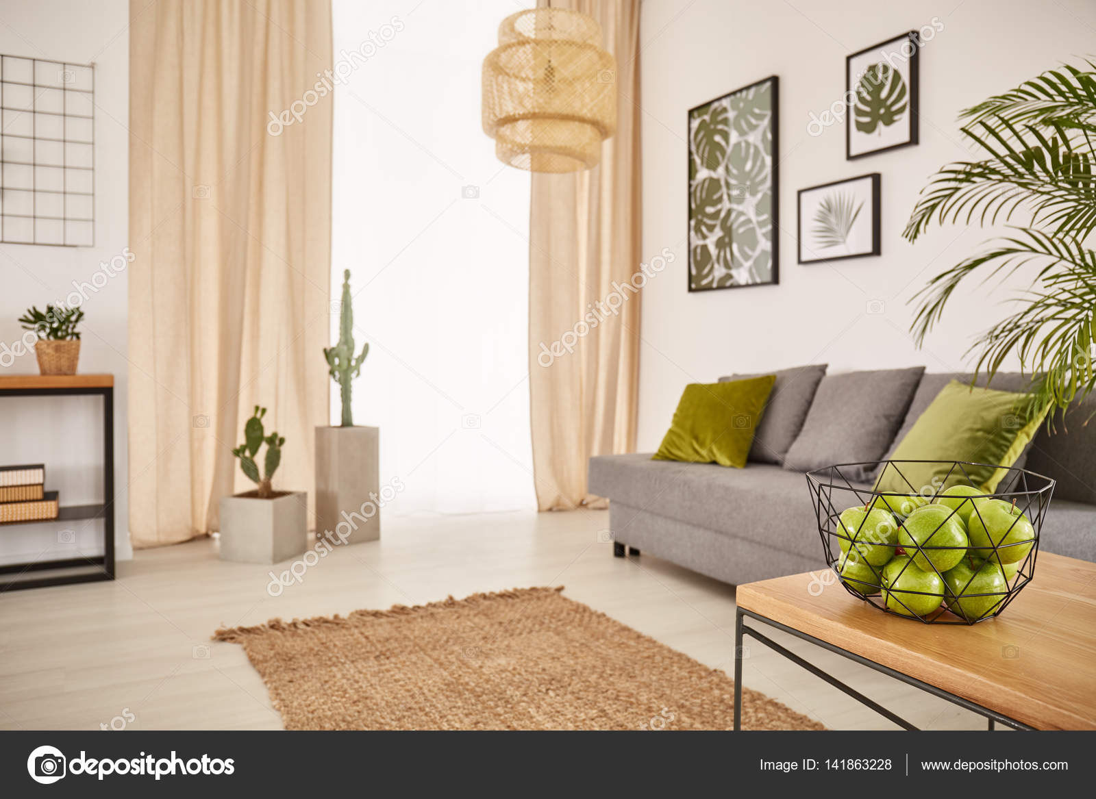 earthy furniture. Bright Room With Earthy Design And Bowl Of Apples \u2014 Photo By Photographee.eu Furniture E