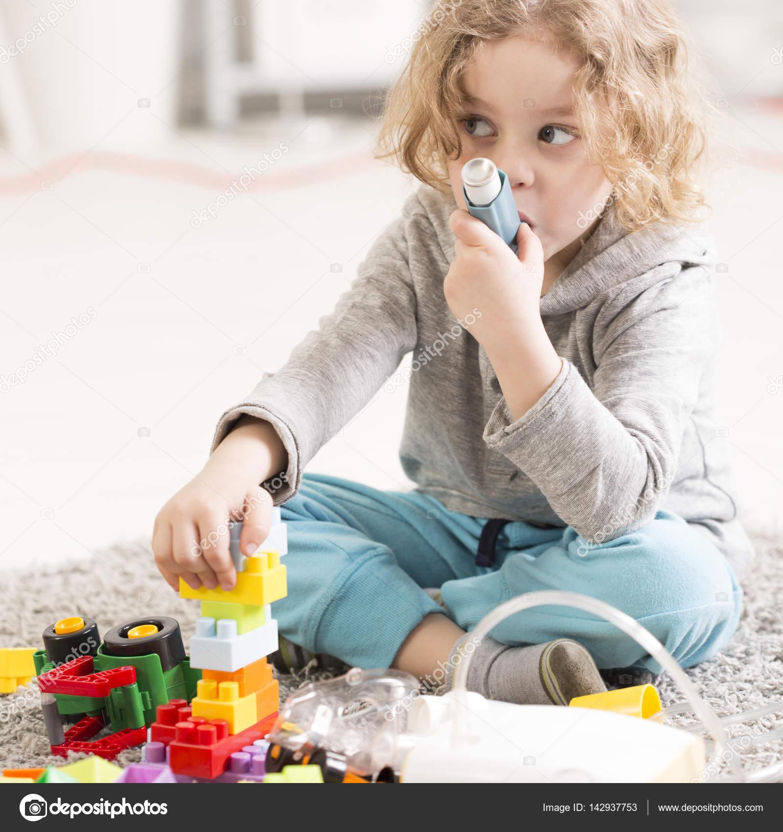 Pediatric Pneumonia Treatment At Home Stock Photo