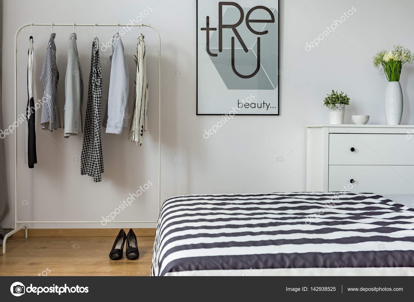 Modern Bedroom Of A Woman Stock Photo Image By C Photographee Eu 142938525