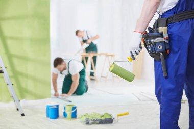 Interior renovation crew