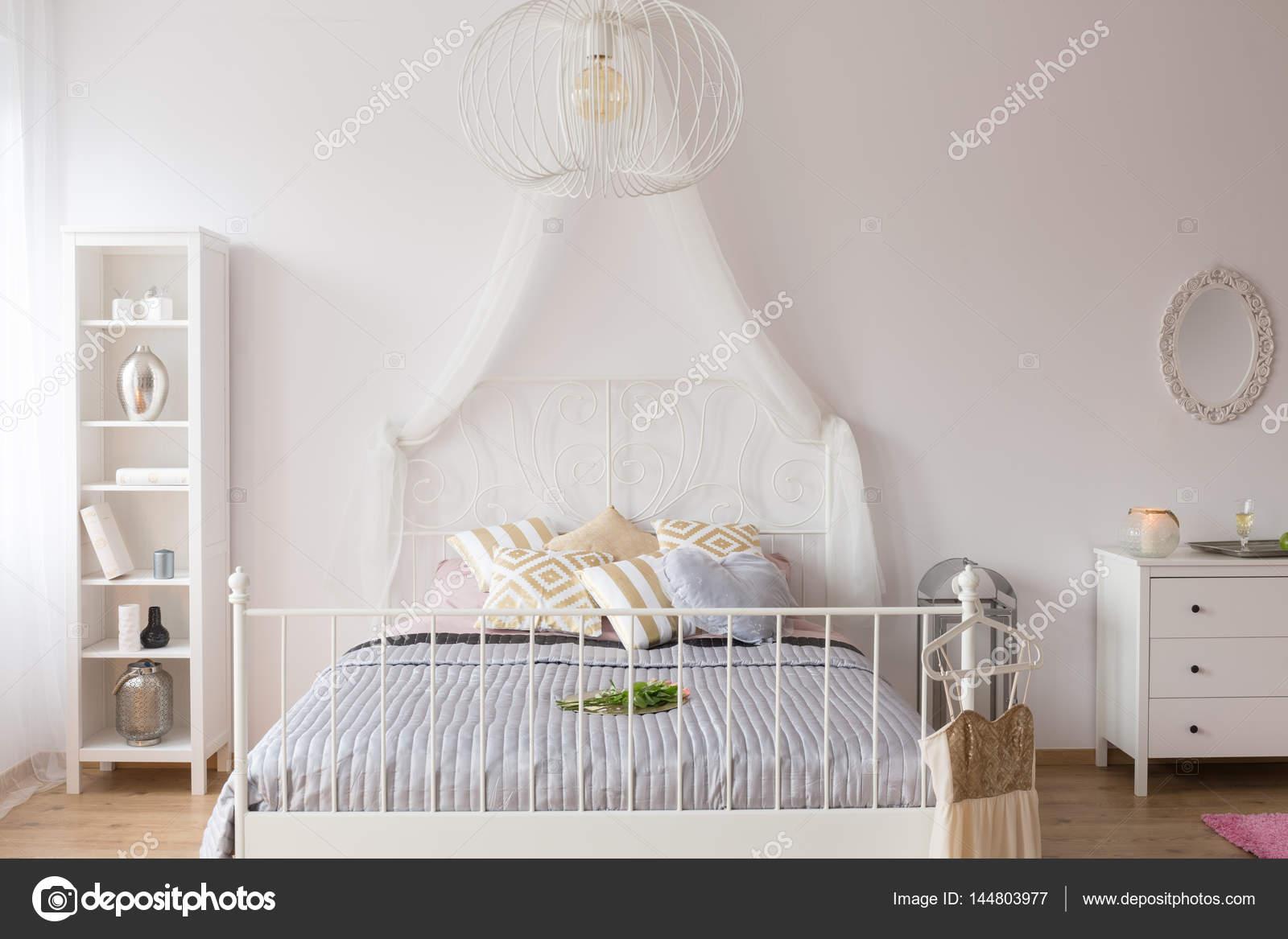 Hemelbed In Slaapkamer : ≥ hemelbed persoons wit inclusief bodem en gordijnen