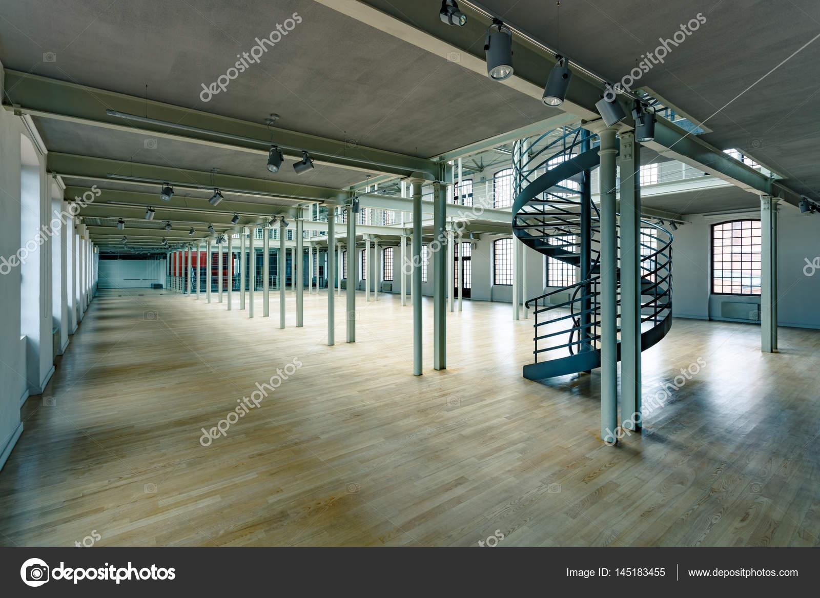 Industrial Interior Com Escada Redonda Stock Photo Photographee