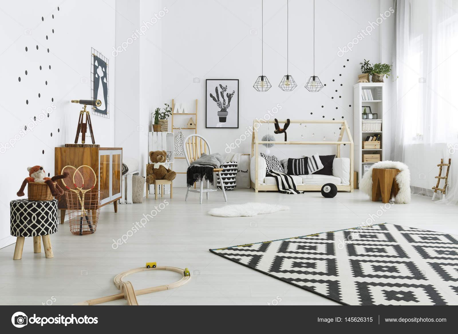 Pokój Dziecka W Stylu Skandynawskim Zdjęcie Stockowe