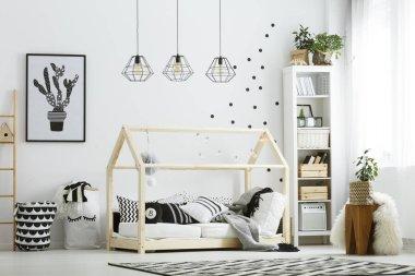 Modern baby bedroom in white