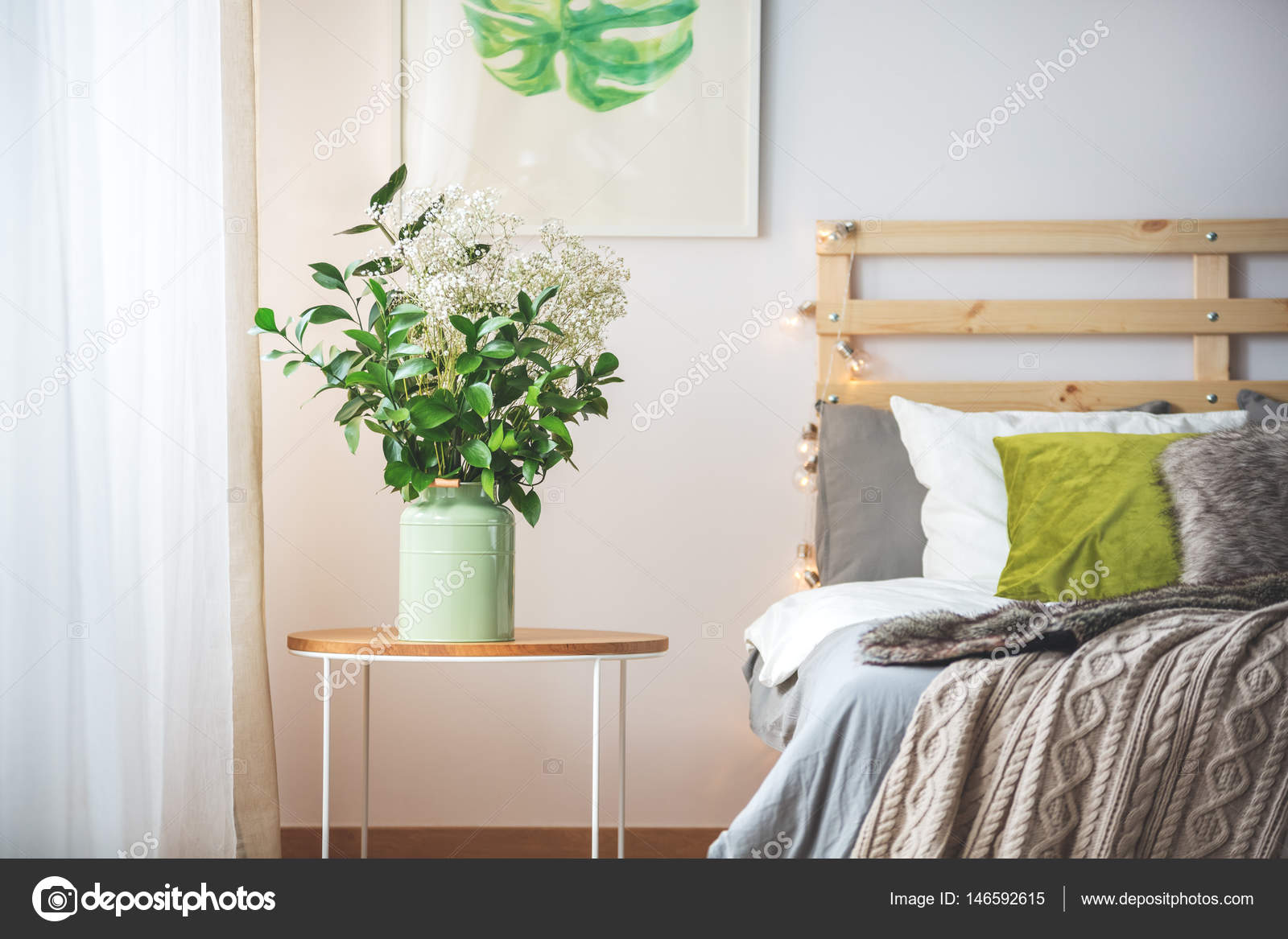 Flowers Next To Bed Stock Photo C Photographee Eu 146592615