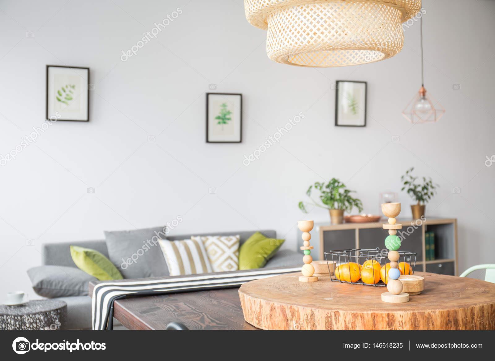 Woonkamer met plafondlamp — Stockfoto © photographee.eu #146618235