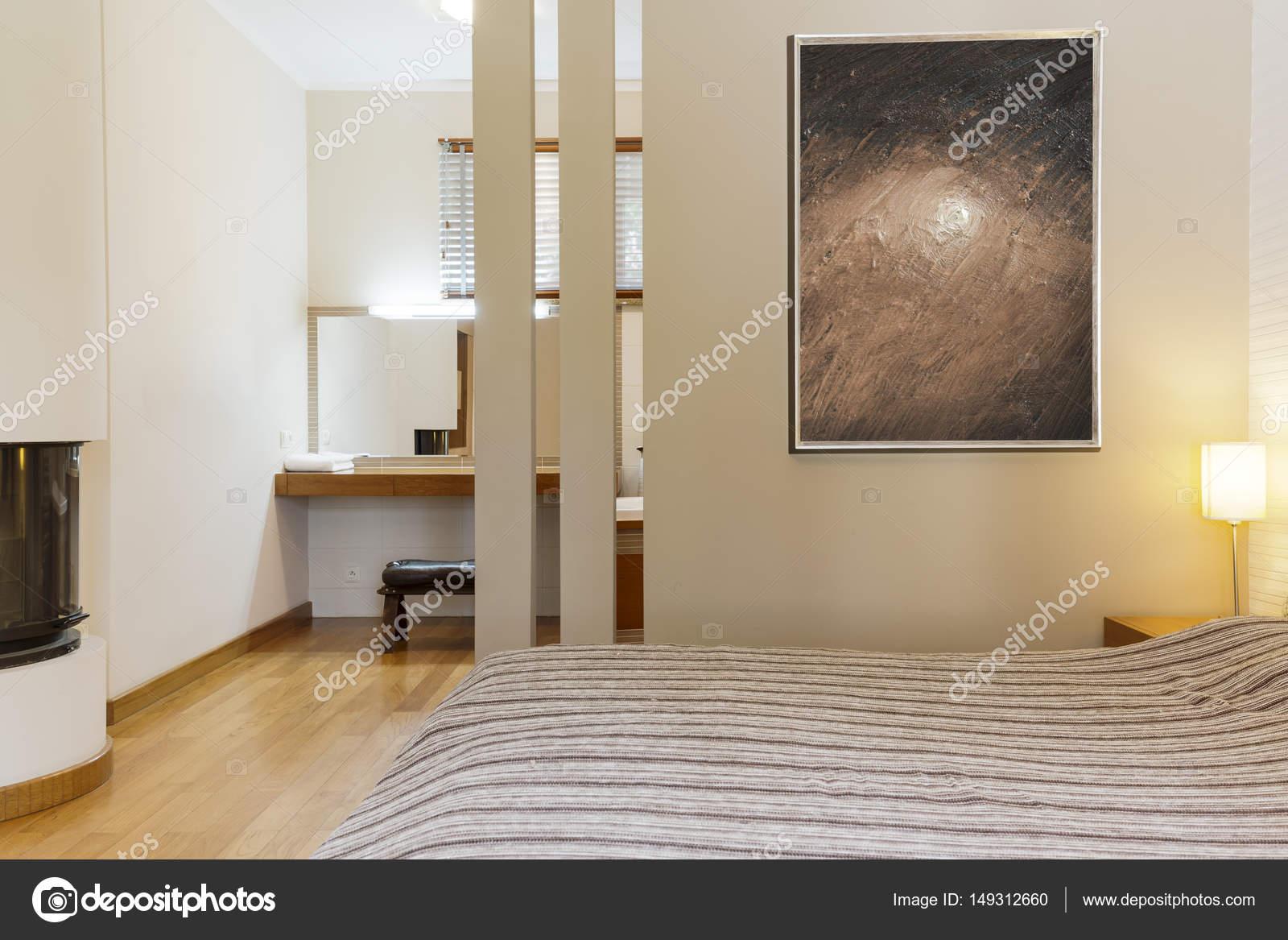 Moderne Zimmer In Warmen Farben U2014 Stockfoto