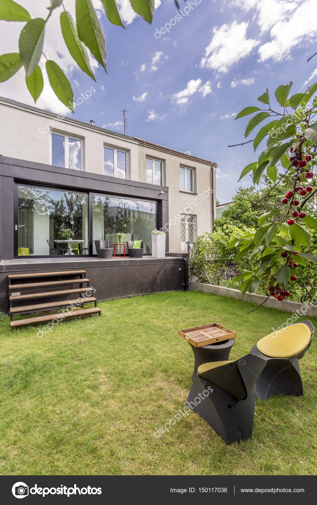 Maison Moderne Avec Jardin Minimaliste Photographie Photographee