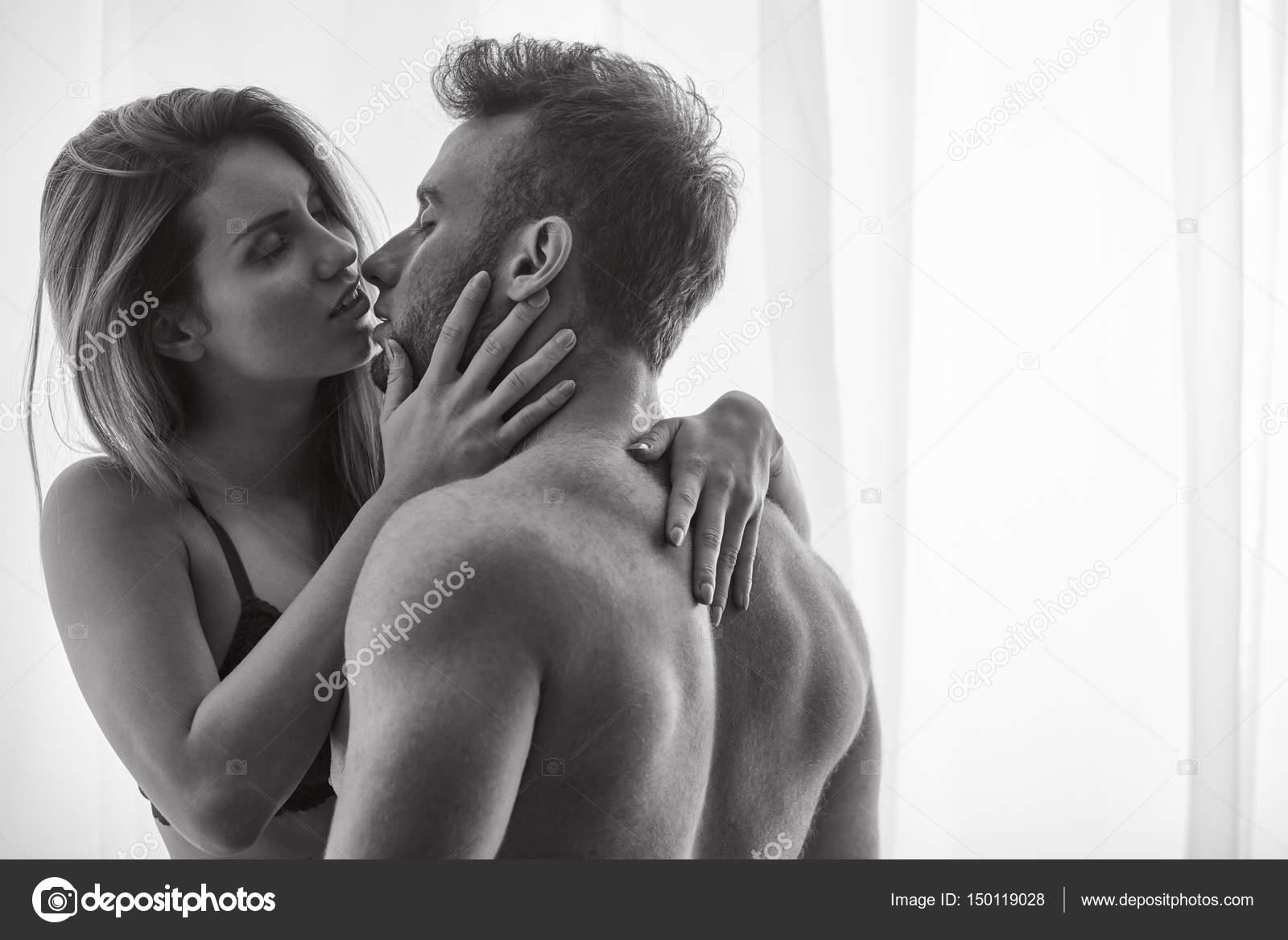 woman kissing the naked man — stock photo © photographee.eu #150119028