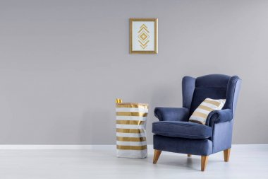 Grey and blue room