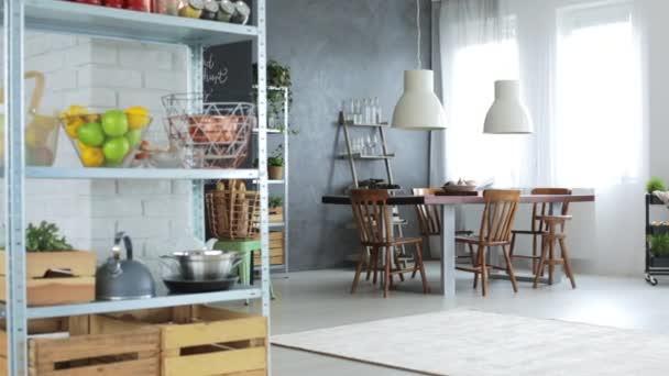 Loft apartment with open kitchen