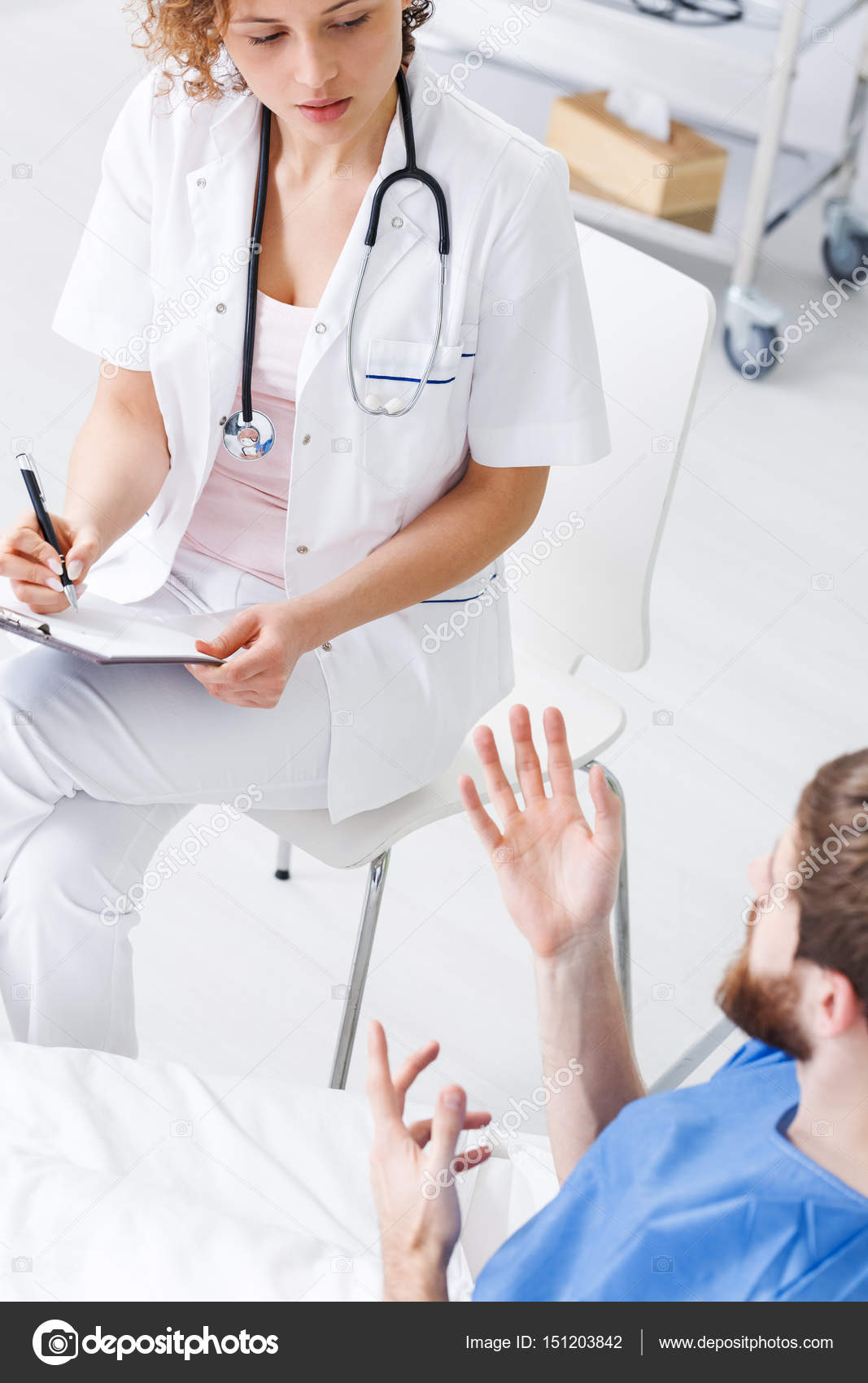 Psychiatric Nurse Talking With Patient Stock Photo Photographee