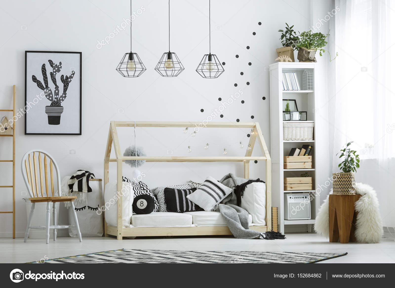 Superior Weiße Möbel Im Zimmer U2014 Stockfoto