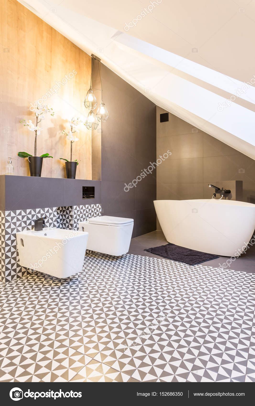zwart-witte badkamer — Stockfoto © photographee.eu #152686350