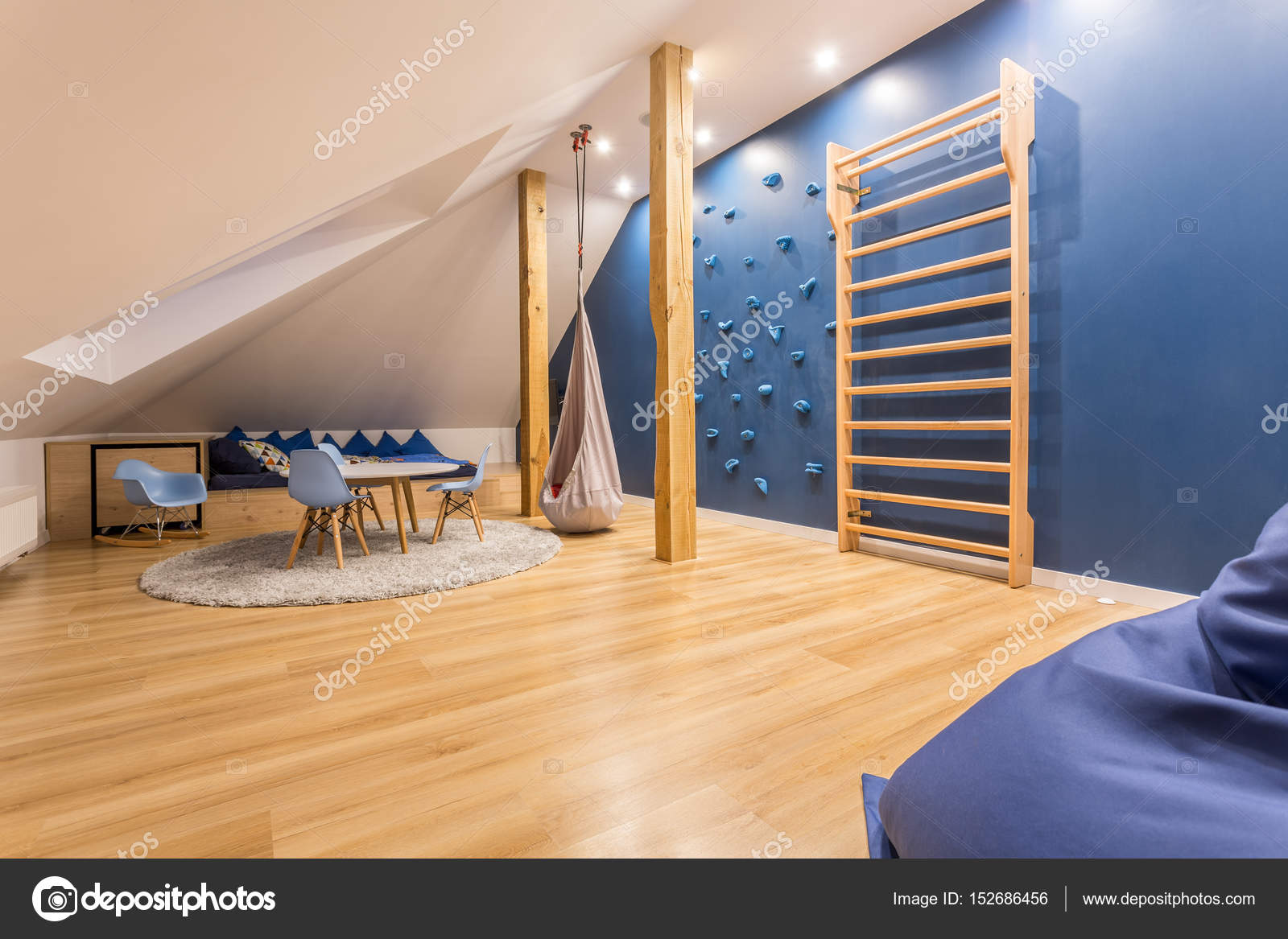 kinderzimmer mit kletterwand — stockfoto © photographee.eu #152686456