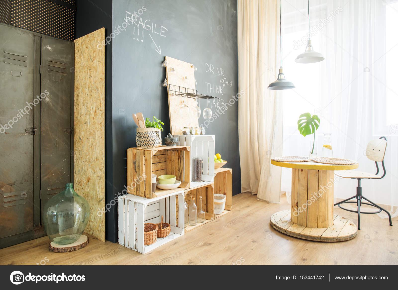 Zimmer mit Blackboard Wand — Stockfoto © photographee.eu #153441742