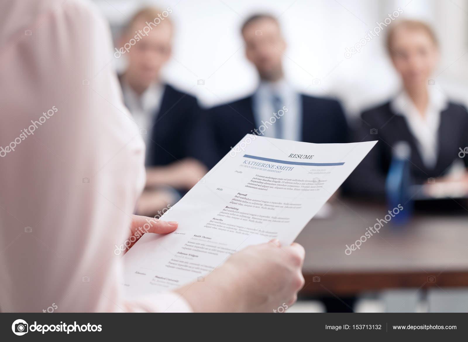 Curriculum Vitae para trabajo de la Corporación — Fotos de Stock ...
