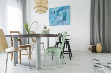 Dining room with communal table