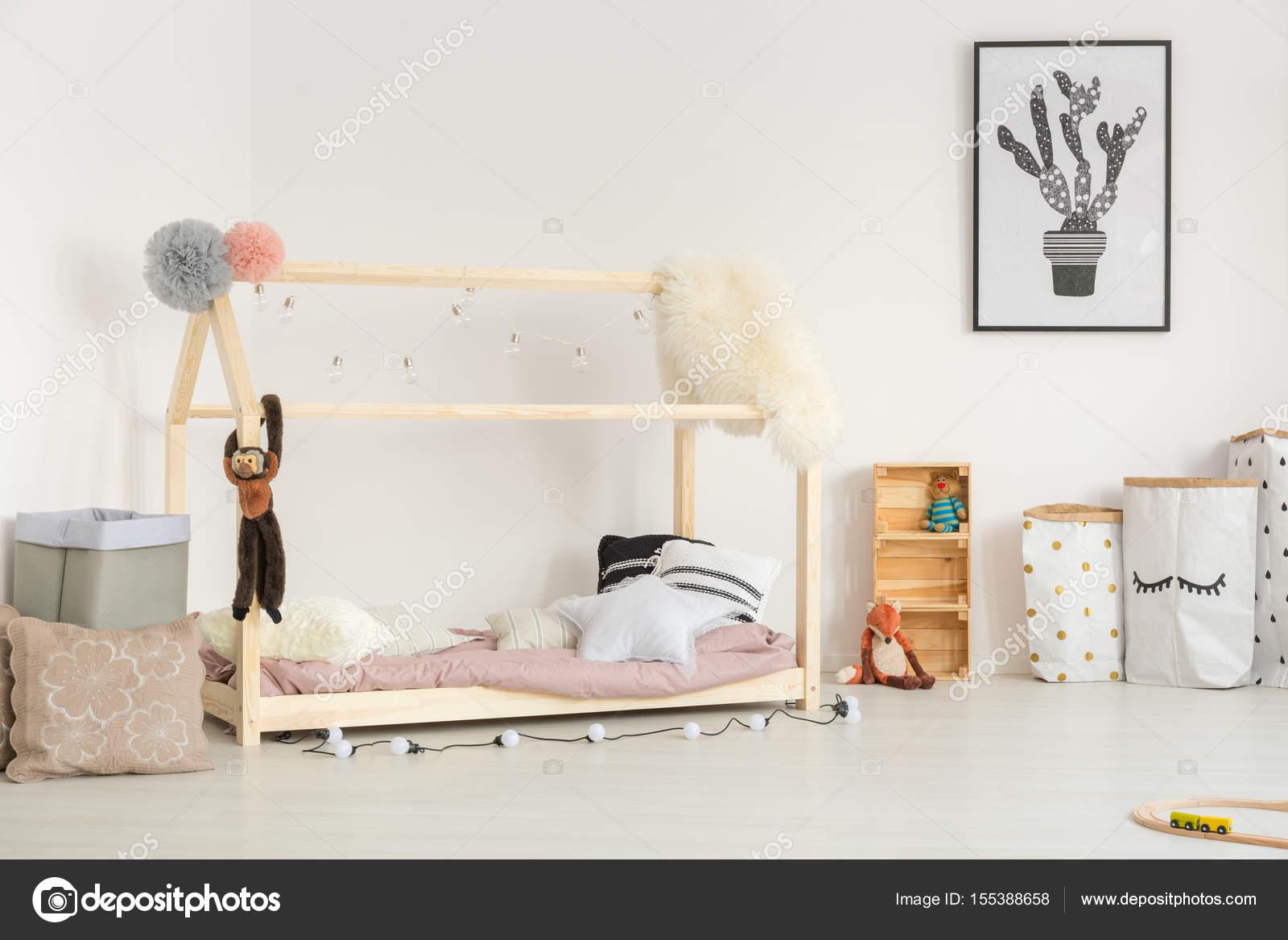 Cozy Baby Room In Nordic Design U2014 Stock Photo