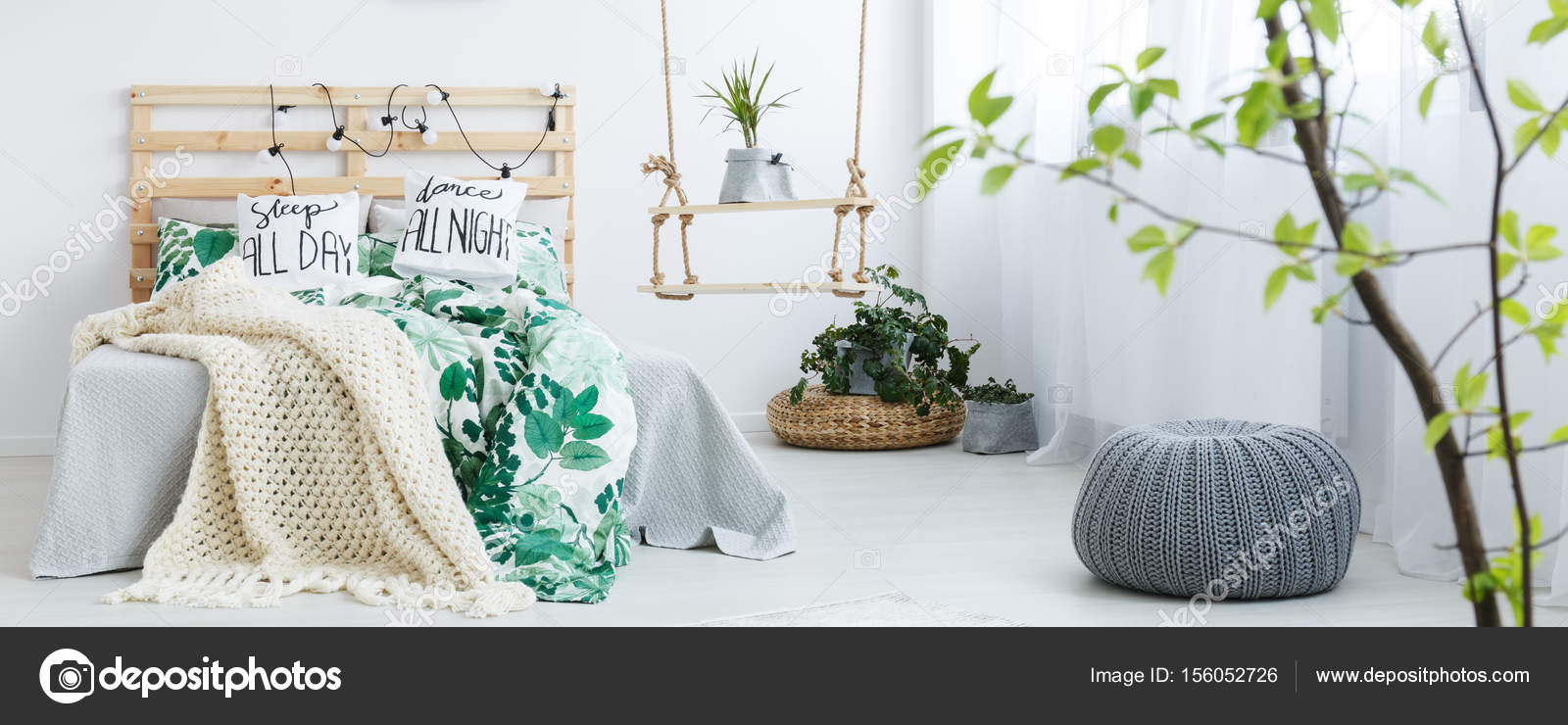 Messy bed in the room — Stock Photo © photographee.eu #156052726